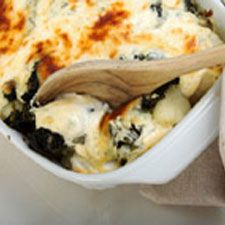 Spinach Artichoke Casserole: 2 oz. frozen spinach thawed and drained ...