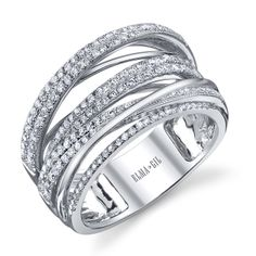 18k white gold and diamond wedding ring. Call or email for information and availability ddjewelry@gmail.com  (425)827-7722