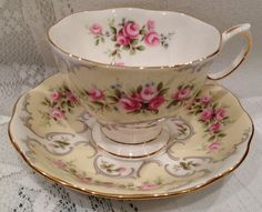 Reserved for Angie - Vintage ROYAL ALBERT Fine Bone China Tea Cup & Saucer…