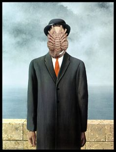 Alien Magritte - This is one of the coolest mash-ups I've ever seen! Awesomeness!