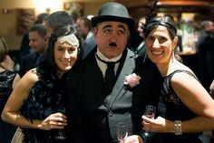 Roaring 20s party:Charlie CHaplin Impersonator