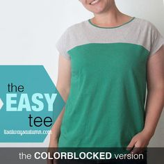make a fun modern colorblocked tee in no time with this free printable pattern and tutorial from www.itsalwaysautumn.com