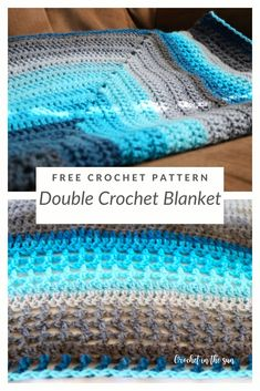 To make this beauty, that's all you need! It's beginner friendly, easy, and works up to be a simple but stunning double crochet blanket. Easy Crochet Blanket, Crochet For Beginners Blanket, Crochet Blanket Patterns, Stitch Patterns, Crochet Blankets, Afghan Patterns, Baby Blankets, Beginner Crochet, Knitting Patterns