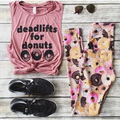 Deadlifts for Donuts Mauve Pink Muscle Tank Workout Tank Gym Shirt... ($22) ❤ liked on Polyvore featuring activewear, activewear tops, grey, tanks, tops, women's clothing, gray shirt, workout muscle tanks, mauve shirt and drapey shirt