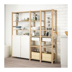 IVAR / SKÅDIS 3 secções/armário/prateleiras - IKEA