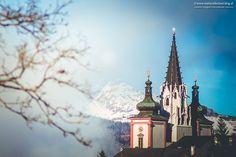 Basilika Mariazell mit Ötscher im Hintergrund
