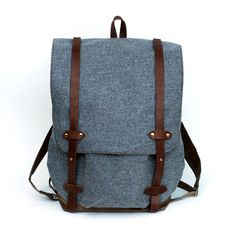Love this backpack, but wouldn't be able to bring myself to spend so much. Wondering if I could make my own? Hmm. The Wayfarer Backpack in Gray Wool ($285.00)