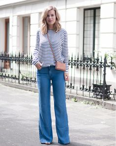 Having fun in flares   Style by Jules