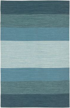 $5 Off when you share! Chandra Rugs India Wide Stripe Blue Rug | Solid & Striped Rugs #RugsUSA