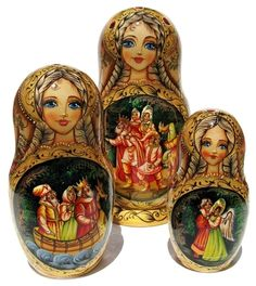 Swan Princess Nesting Dolls