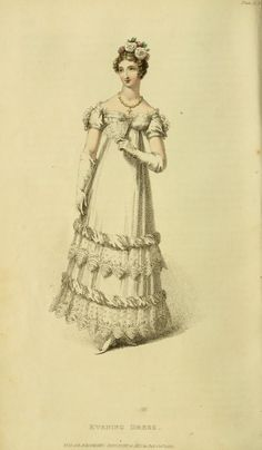 - French influence on Regency Fashion History. Beautiful pictures of regency costumes in Georgian England. Napoleonic Empire line dress silhouettes, chemisettes, spencers and redingotes and accessories. Victorian Era, Victorian Fashion, Vintage Fashion, Georgian Era, Victorian Ladies, Medieval Fashion, Regency Dress, Regency Era, Rey George