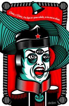 MEXICANOS AL TRAZO DE GUERRA / EXPO by Tone Olvera , via Behance