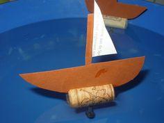 Thema zomer, vervoer: bootje knutselen