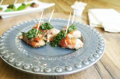 Prosciutto Wrapped Pesto Chicken Bites - leave out the nuts to make it AIP :)