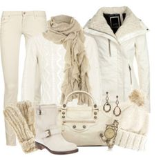 The Stunning Beauty of Winter White #Fashion Looks warm and cozy for winter.