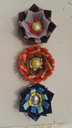 Flores con venecitas por Anabel Caceres en el taller de Ricardo Stefani