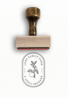 Custom Logo Stamp - Simple Packaging Idea for Small Business - Including this because I like the overall shape and clean line drawing…also I like the idea of hav - Simple Packaging, Brand Packaging, Packaging Design, Packaging Ideas, Custom Stamps, Custom Logos, Custom Logo Design, Familie Symbol, Logo Fleur