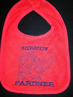 Howdy Pardner Bib