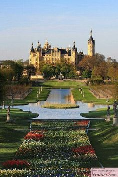 Schweriner Schloss is a castle located in the city of Schwerin, the capital of the Bundesland of Mecklenburg-Vorpommern, Germany. For centuries it was the home of the dukes and grand dukes of Mecklenburg and later Mecklenburg-Schwerin. Places Around The World, Oh The Places You'll Go, Places To Travel, Places To Visit, Around The Worlds, Beautiful Castles, Beautiful World, Beautiful Places, Amazing Places