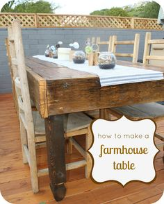 DIY Farmhouse Table. WANT!