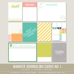 Image of Wander Journaling Cards no.1 (Digital)