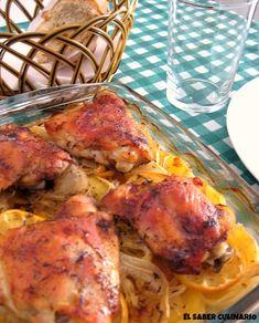 Receta fácil de pollo al horno con limón y tomillo