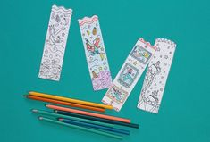 Make these cute DIY mermaid bookmarks with our free, printable coloring page. Great for summer reading events, parties, and any child who loves mermaids! Mermaid Coloring Pages, Free Coloring Pages, Printable Coloring Pages, Mermaid Diy, Mermaid Dolls, Summer Party Favors, Sea Colour, Diy School Supplies, Book Images