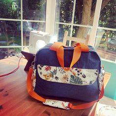 Pauline 🇫🇷🇩🇪 sur Instagram: Voilà mon premier #sacboogie en version sac à langer. Et cette fois, il est pour moi!! Un joli projet pour vous annoncer cette belle…