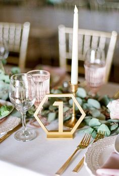 Geometric Table Numbers for Weddings, wedding table decor, #decor #wedding #affiliate #weddingdecoration
