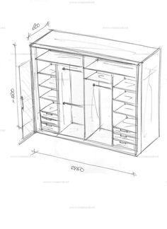 Большой шкаф-купе в спальню.