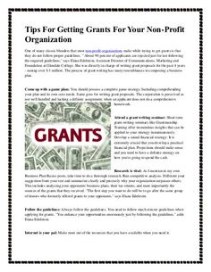 Tips for getting grants for your non profit organization