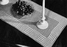 Free Vintage Crochet: Dot and Dash Runner Pattern #7280