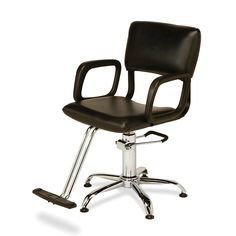 AR-HC-01-D Comfortable, super durable flex steel frame and smooth, clean lines.  Hydraulic styling chair on star base.