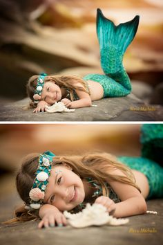 Magical Kid's Mermaid Inspired Beach Photo Session by Alexa Machado Photography in San Diego California! Click the link to follow her work!