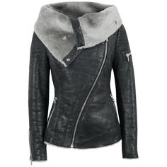 Ash Arnelle Black Leather Biker Jacket (1 225 AUD) ❤ liked on Polyvore featuring outerwear, jackets, coats, tops, women, distressed motorcycle jacket, leather motorcycle jacket, distressed leather jacket, fitted leather jacket and vintage jerseys