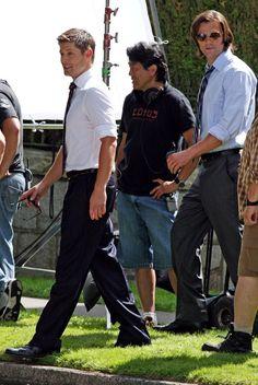 """Jared Padalecki Photos: Jensen Ackles and Jared Padalecki on Set for """"Supernatural"""""""
