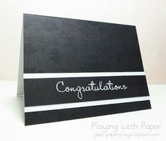 Playing with Paper: Congratulations