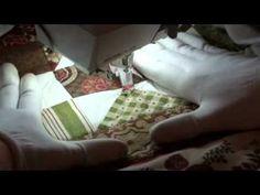 "Ditch quilting on domestic machine  ▶ Стежка ""Перья"", повороты и возвраты. - YouTube"