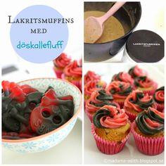 En riktig höjdare på barnkalaset eller halloweenfesten.   På bilden är muffinsen gräddad i miniformar men receptet är anpassat efter st...
