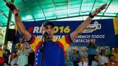 Image copyright                  AFP                  Image caption                                      Los líderes opositores creen que con marchas en la calle pueden presionar al gobierno.                                La oposición en Venezuela no está dispuesta a aceptar las condiciones del Consejo Nacional Electoral para el referendo revocatorio al pres