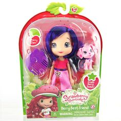 "Strawberry Shortcake 6 inch Fashion Doll with Pet - Cherry with Cinnapup -  The Bridge Direct - Toys""R""Us"