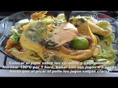 Pollo rostizado con mantequilla y hierbas http://solesin.com/cocina/pollo-rostizado-con-mantequilla-y-hierbas.htm#