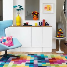 Interior Design Ideas 2016 the finer details complete this small space Funk Rugs - Multi Coloured Pure Wool