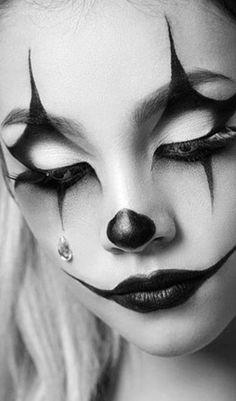 Girls wearing clown makeup sucking dick