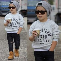 52 Little Boy Outfits To Make Your Boy Look Fashionable - - The most beautiful children's fashion products Toddler Boy Fashion, Little Boy Fashion, Toddler Boy Outfits, Boy Toddler, Boys Fall Fashion, Children Outfits, Child Fashion, Children Clothes Boys, Little Boys Clothes