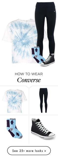 """What my track team and I our wearing for tmrw"" by sydneymellark on Polyvore featuring Rosie Assoulin, NIKE, Free Press, Converse, winterwear and fouritemtag"
