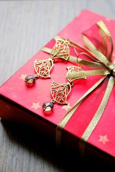 elegant filigree earrings, gemstone earrings