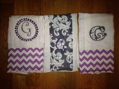 Baby girl set of burp cloths!!