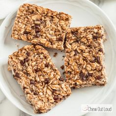 These Protein Granola Energy Bars are super easy to make and are a powerhouse of nutrition. They're chewy good and loaded with everything you want in a bar.
