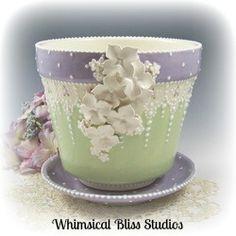 Whimsical Bliss Studios - Fancy Flower Pot